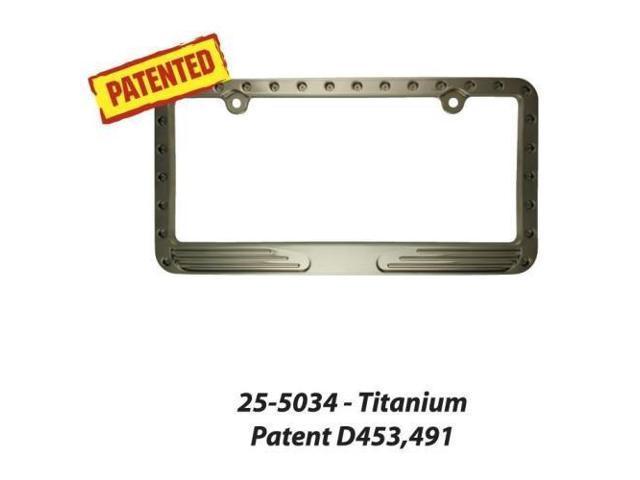 Superior 255034 Lic Plate Frame Titani