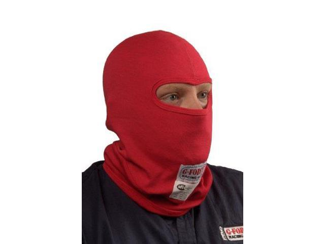 G-Force 41121L1Rd Sfi Red Single Layer Flame-Retardant Balaclava With 1 Eyeport