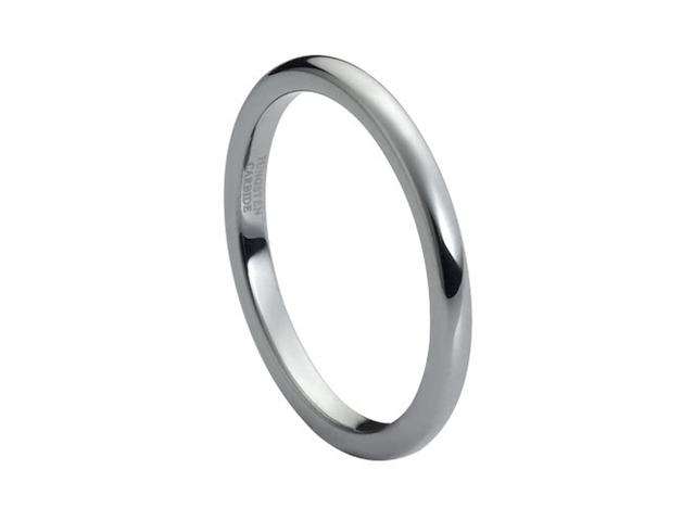 Tungsten Carbide High Polish Thin Band 2mm Wedding Band Ring