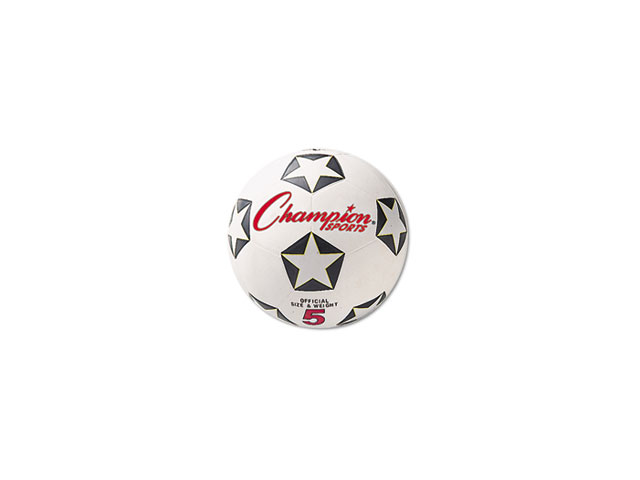 Rubber Sports Ball, For Soccer, No. 5, White/Black