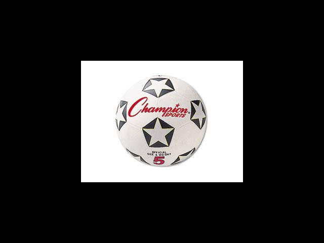 Rubber Sports Ball For Soccer No. 5 White/Black