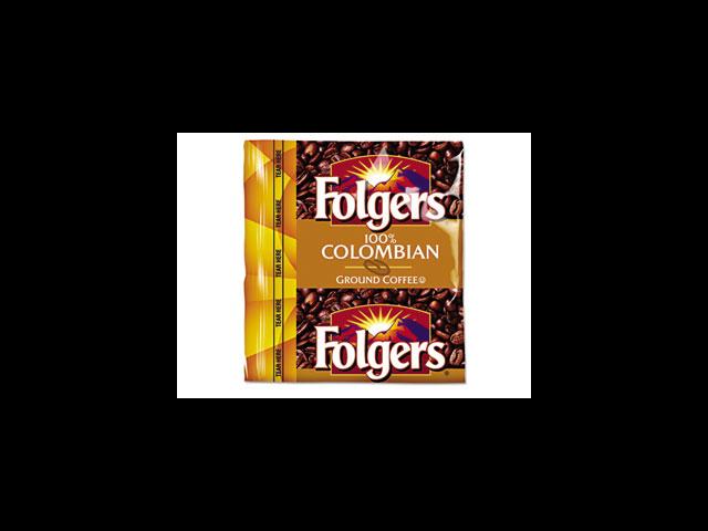 Folgers 06142 Coffee Premeasured Packs, Colombian, 0.9 oz Fractional Packs, 150/Carton