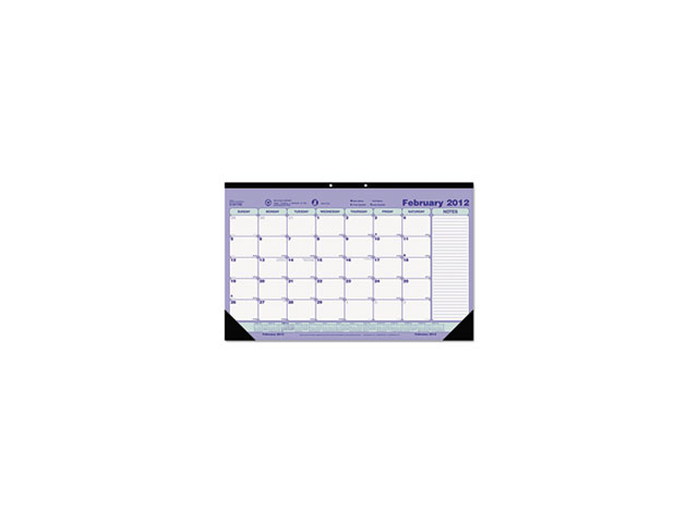 Monthly Desk Pad Calendar, 17-3/4 x 10-7/8, 2014