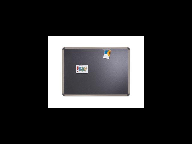 Quartet QRTB364T Tackable Board- Fabric- 4ft.x3ft.- Titanium Frame-Black Board