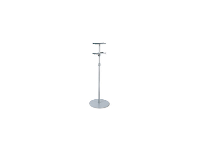 Quartet QRT7923 Sign Stand- Adjustable- Holds 2 Signs- 15in.x15in.x44-73in.- Silver