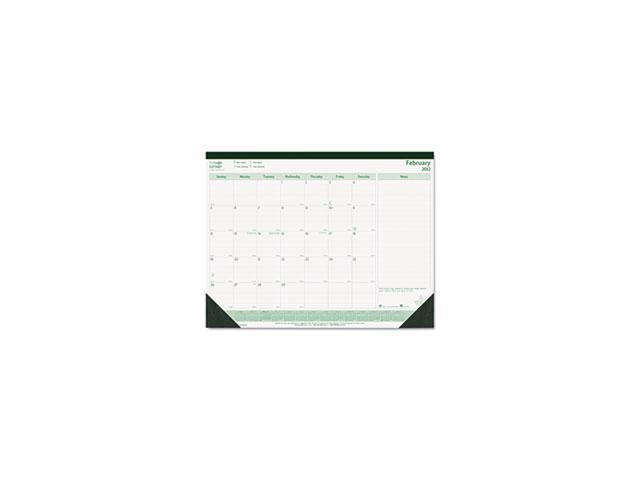 EcoLogix Monthly Desk Pad Calendar, 21-3/4 x 17, 2014