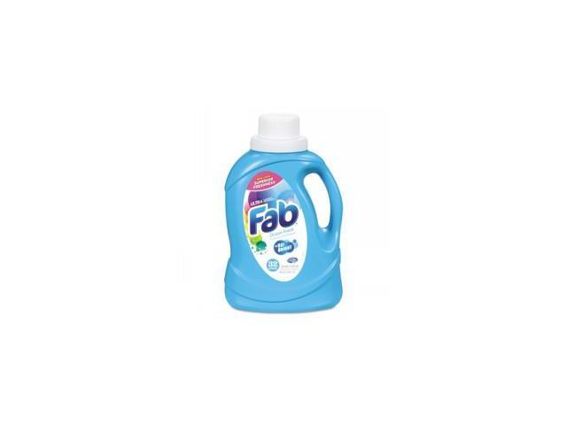 Fab Ultra 2X Liquid Laundry Detergent, Ocean Breeze, 50oz, Bottle