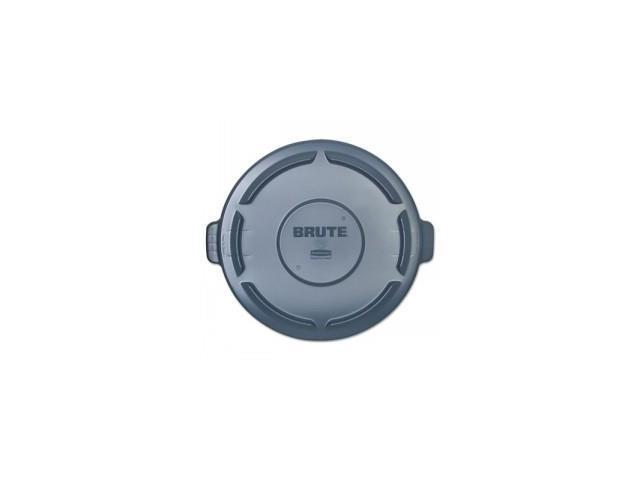 Vented Round Brute Lid, 24 1/2 x 1 1/2, Gray
