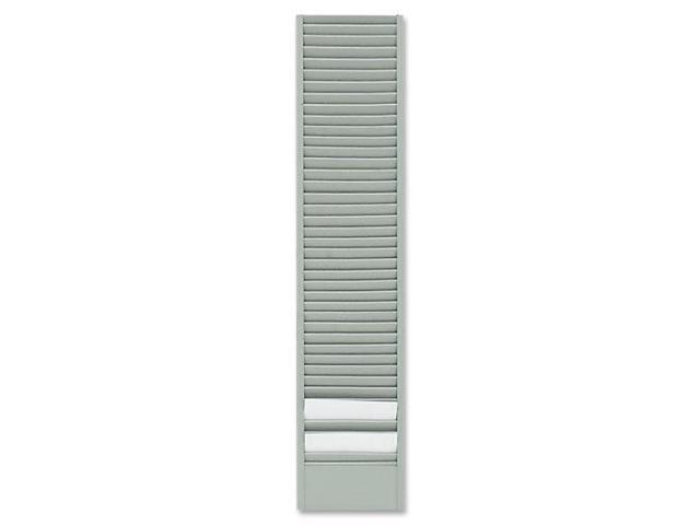 40-Pocket Badge Holder Rack, Horizontal, Recycled Steel, Platinum