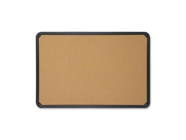 Quartet QRT699165 Bulletin Boards- w- Plastic Frame- 24in.x18in.- Natural Cork