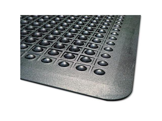 Flex Step Rubber Anti-Fatigue Mat, Polypropylene, 36 X 60, Black
