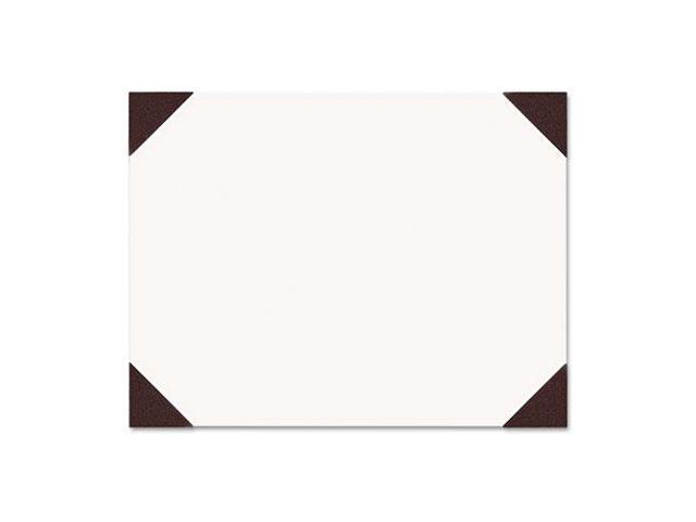 Ecotones Desk Pad, 25-Sheet Pad, 22 X 17, Moonlight Cream/Brown