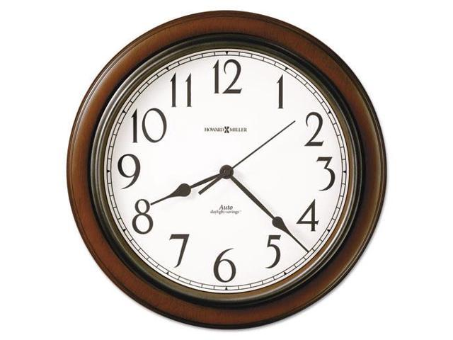 TALON Wall Clock Medium Brown Cherry Finish
