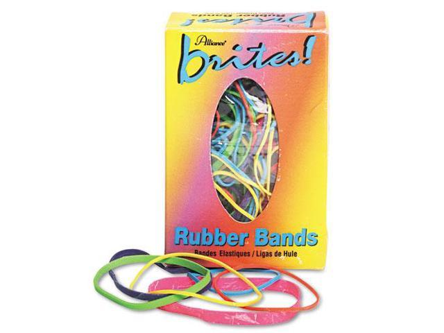Brites Pic Pac Rubber Bands, Blue/Orange/Yellow/Lime/Purple/Pink, 1-1/