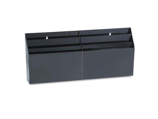 Rubbermaid RUB96060ROS 6 Pocket Organizer- Letter Size- 24-.63in.x2-.75in.x11-.50in.- Black