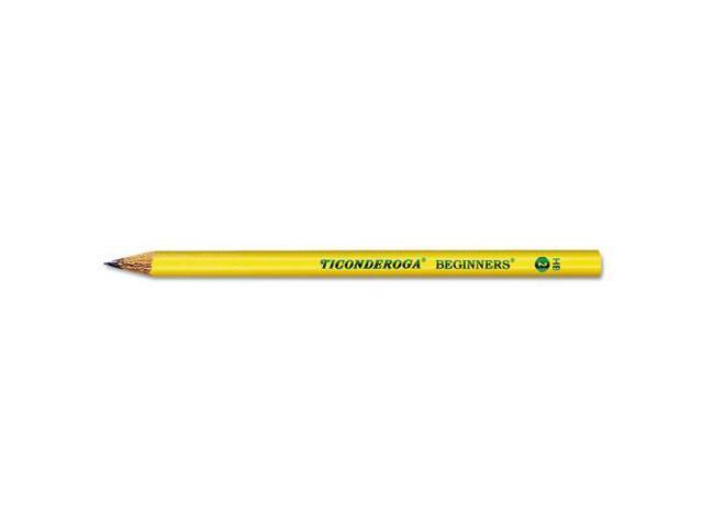 Ticonderoga Beginners Wood Pencil W/O Eraser, #2, Yellow Barrel, Dozen