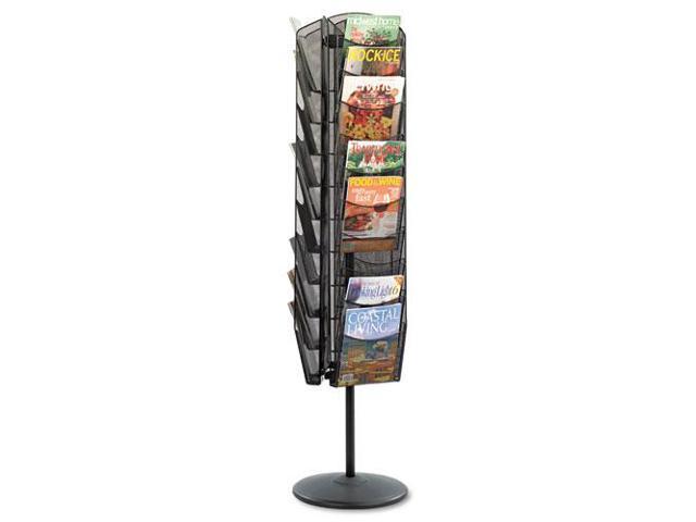 Onyx Mesh Rotating Magazine Display, 30 Compartments, 16-1/2W X 66H, B