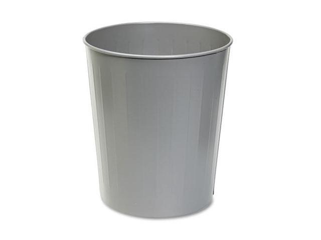 Fire-Safe Wastebasket, Round, Steel, 23.5Qt, Charcoal