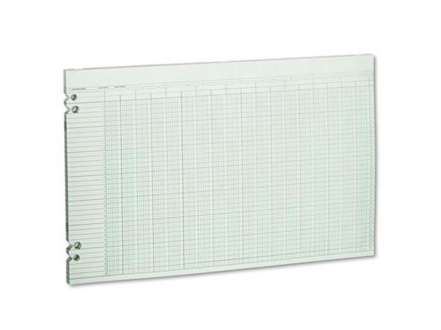 Accounting Sheets, 30 Columns, 11 X 17, 100 Loose Sheets/Pack, Green