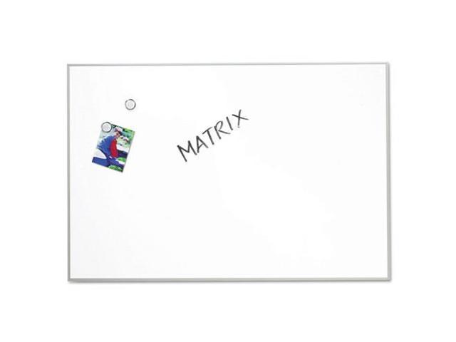 Matrix Magnetic Boards Painted Steel 34 x 23 White Aluminum Frame