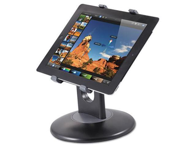 Stand for 7-10 Inch Tablets, Swivel Base, Plastic, Black