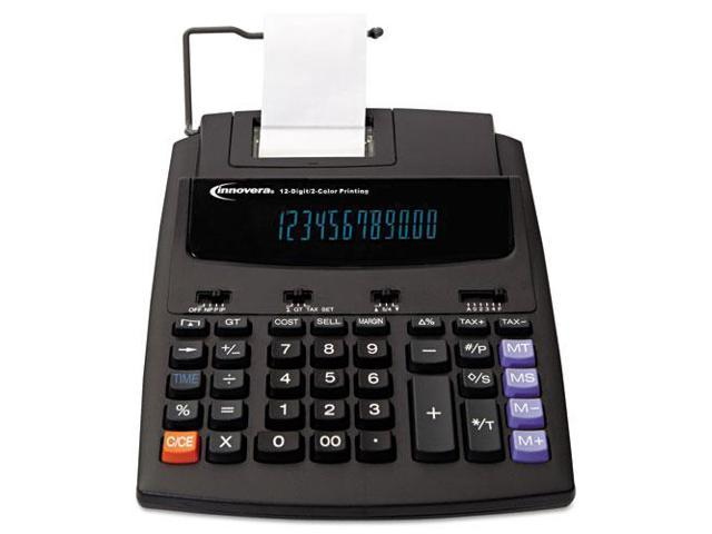 16000 Two-Color Roller Printing Calculator, Black/Red Print, 2.7 Lines