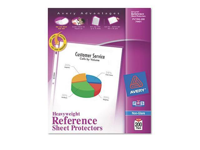 Avery Consumer Products AVE74401 Sheet Protectors- Heavyweight- Nonglare- Clear