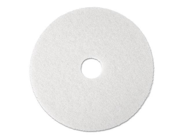 "Super Polish Floor Pad 4100, 13"", White, 5 Pads/Carton"