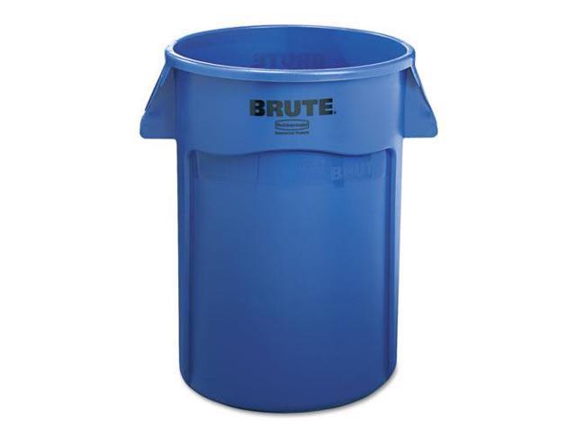 Brute Vented Trash Receptacle, Round, 44Gal, Blue