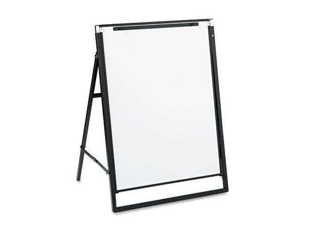 Futura Dry Erase Presentation Easel, Melamine, 24 x 36, White, Black F