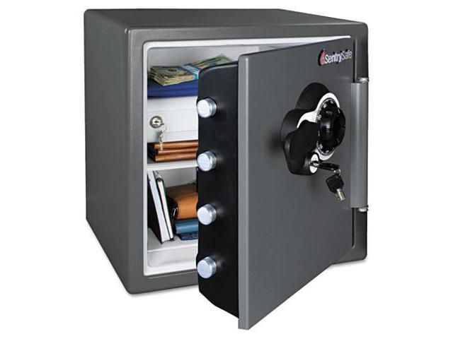 Combination Water/Fire Resistant Safe 1.23 ft3 16 3/8 x 19 3/8 x 17 7/8 Gray