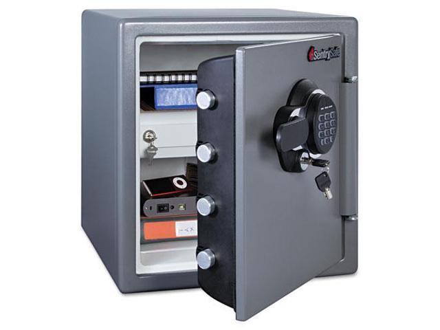 Electronic Fire Safe, 1.23 Ft3, 16-3/8W X 19-3/8D X 17-7/8H, Gunmetal