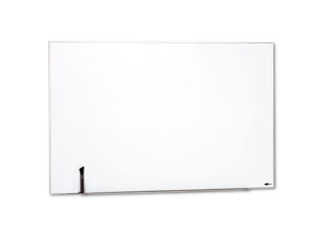 Magnetic Dry Erase Board, Painted Steel, 48 x 31, White, Aluminum Fram