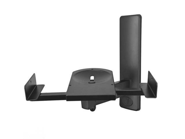 AM40 Side Clamping Bookshelf Speaker Wall Mount supports upto 50 lbs tilts & swivel comes as a Pair to mount 2 speakers. Color Black