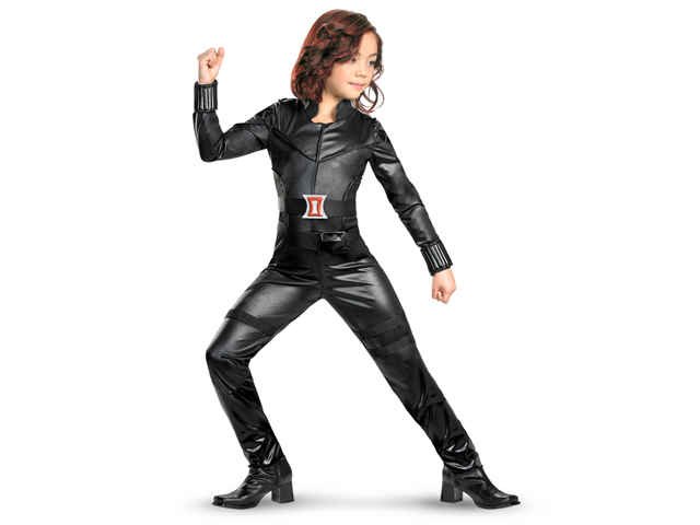 Girls Deluxe Avengers Black Widow Costume
