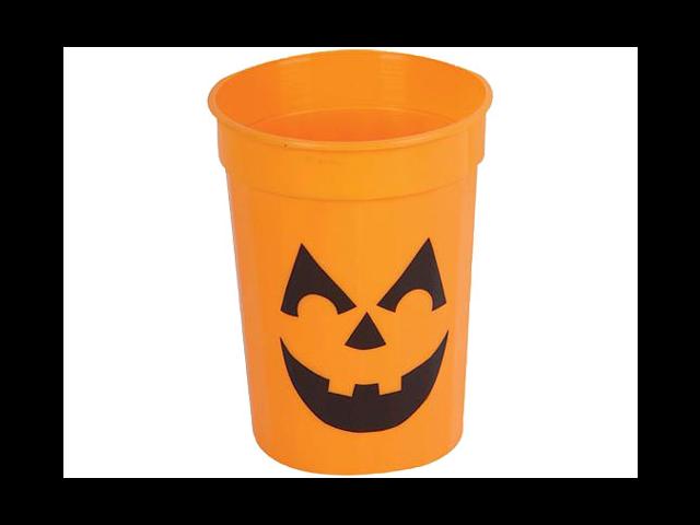 New Plastic Halloween Pumpkin Party Beer Drinking Glass