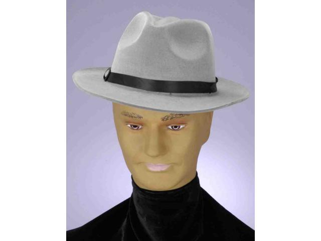 20s Gangster Or Detective Grey Costume Fedora Hat