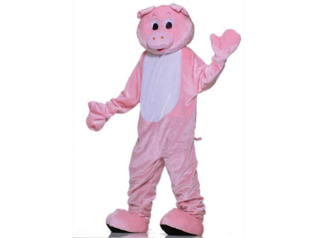 Mens 42-44 Deluxe Pink Pig Parade or School Plush Mascot Costume