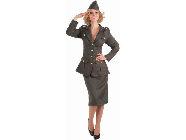 Womens 14-16 WWII Army Gal Military Officer Costume