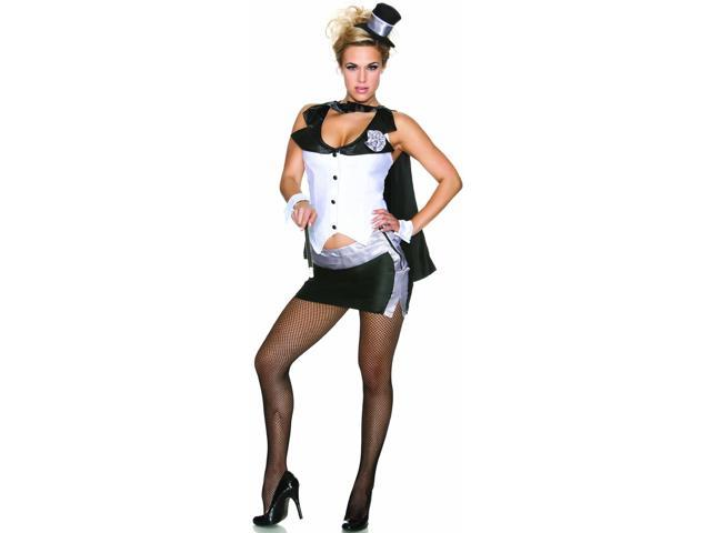 Womens Adult Sexy Abracadabra Magicians Assistant Costume X-Small-Small (0-2)