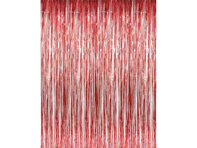3\u0027 x 8\u0027 Red Tinsel Foil Fringe Door Window Curtain Party Decoration  sc 1 st  Newegg.com : door fringe - pezcame.com