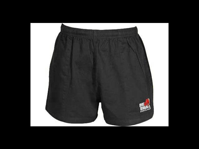 Red Rhino Rugby Shorts - Black - XXS - 26/28