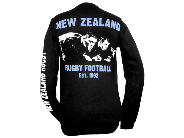 Long-Sleeve New Zealand Rugby T-Shirt - S