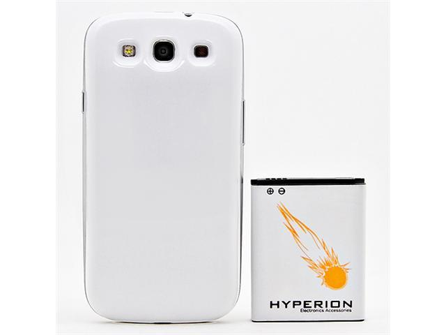Hyperion Samsung Galaxy SIII 4200mAh Extended Battery + White Back Cover (Compatible with ALL Samsung Galaxy S III GT-i9300 ...