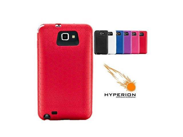 Hyperion Samsung Galaxy Note Extended Battery HoneyComb TPU Case Red