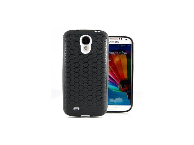Hyperion Samsung Galaxy S4 Extended Battery HoneyComb Matte TPU Case / Cover - Black