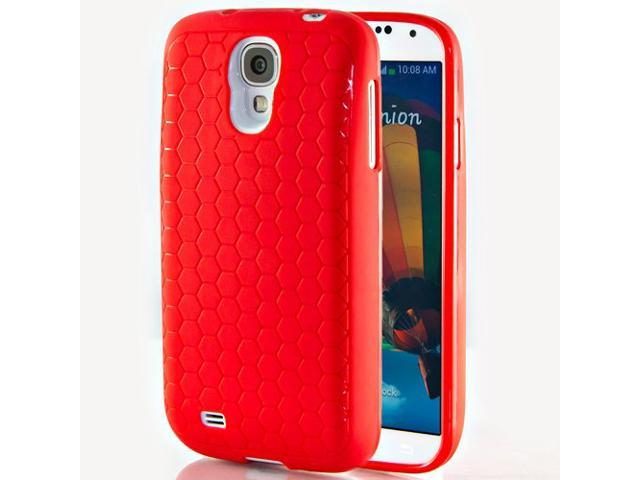 Hyperion Samsung Galaxy S4 Extended Battery HoneyComb Matte TPU Case / Cover - RED