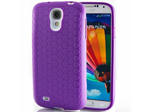 Hyperion Samsung Galaxy S4 Extended Battery HoneyComb Matte TPU Case / Cover - PURPLE