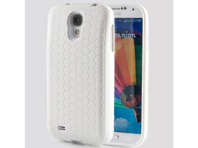 Hyperion Samsung Galaxy S4 Extended Battery HoneyComb Matte TPU Case / Cover - WHITE