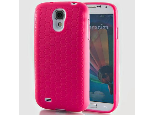 Hyperion Samsung Galaxy S4 Extended Battery HoneyComb Matte TPU Case / Cover - PINK
